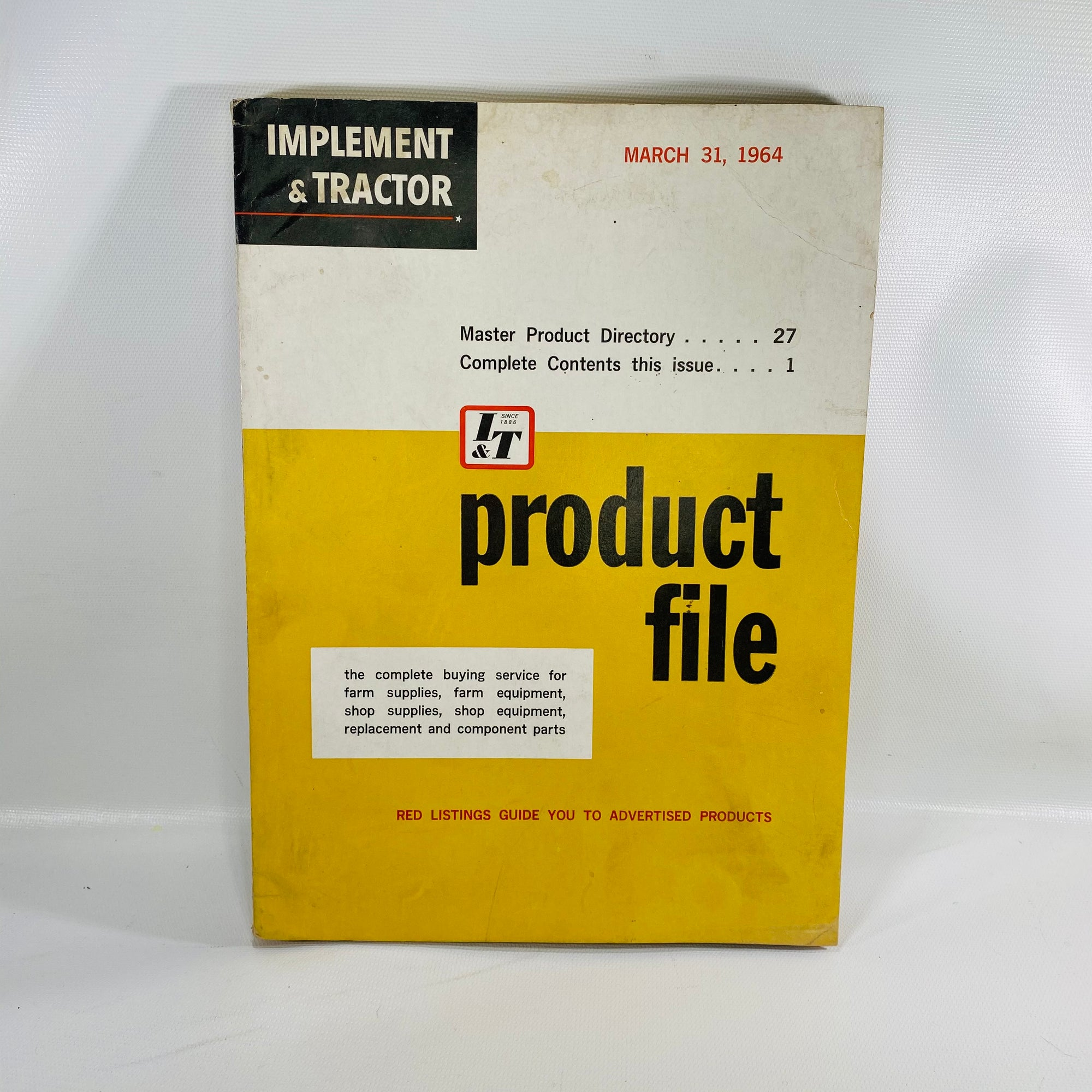 Implement & Tractor Product File March 31, 1964-Reading Vintage