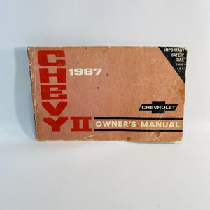Chevy II 1967 Owner's Manual published by General Motors Corporation Detroit Mi.