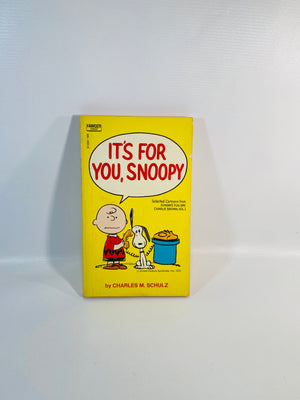 It's For You, Snoopy by Charles M. Schulz 1971-Reading Vintage