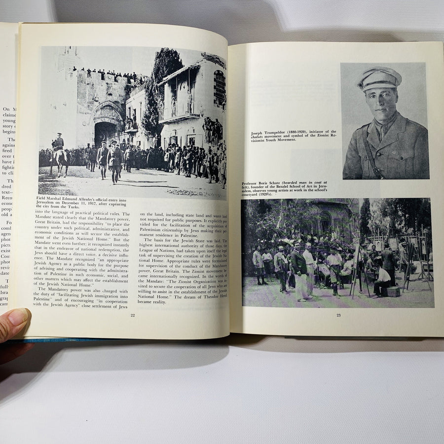 A Pictorial History of Israel  by Jacob A. Runbin 1965