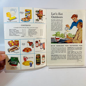 3 Vintage Recipe Pamphlets with Fun Party Outdoor Recipes 1960's