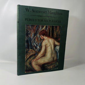 Purely for my Pleasure W. Somerset Maugham 1962 A Vintage Art Book
