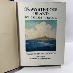The Mysterious Island by Jules Verne 1920 First Edition Vintage Adventure Book