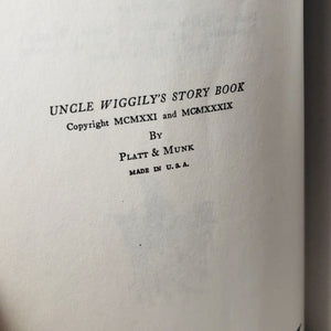 Uncle Wiggily's Story Book by Howard R. Garis 1939 A Vintage Children's Book