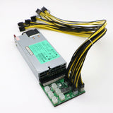 1200W PSU + Breakout Board + 12 x PCI-E 6Pin+2 Cables - Delivery in January