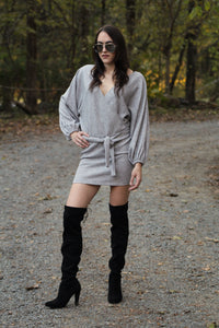 It's Not That Complicated - reversible sweater dress