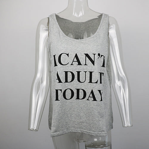 'I Can't Adult Today' Tank