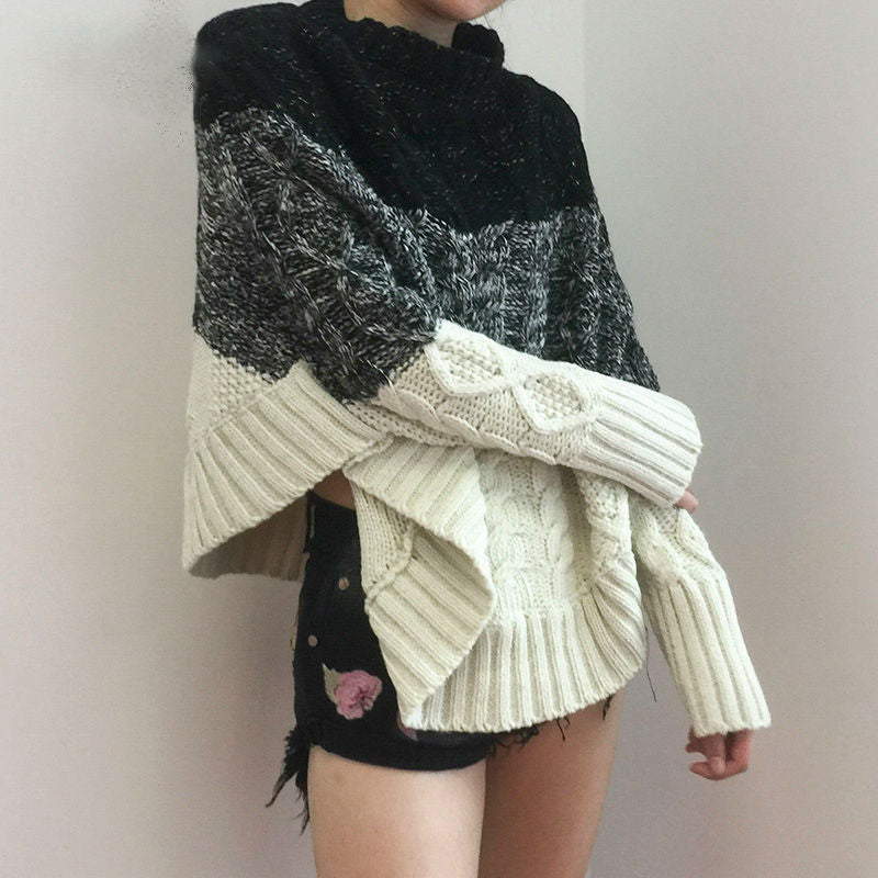 Colorblock Batwing Sweater