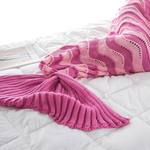 Striped Mermaid Blanket