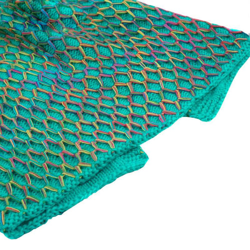 Rainbow-netted Mermaid Blanket
