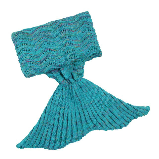 RUFFLED MERMAID BLANKET