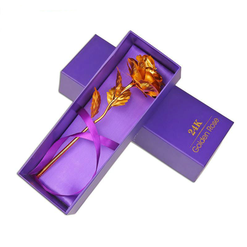 Valentine's Day 24k Gold-Plated Rose