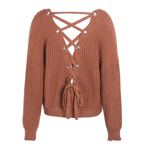 Laced-back Sweater
