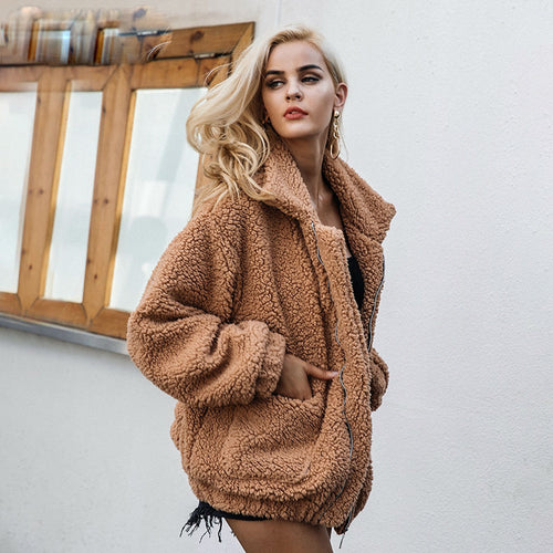 Curly Faux Fur Jacket