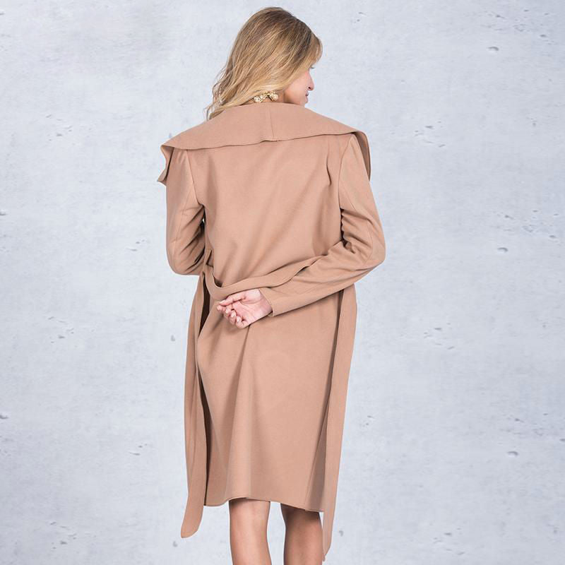 Oversize-lapel Robe Coat