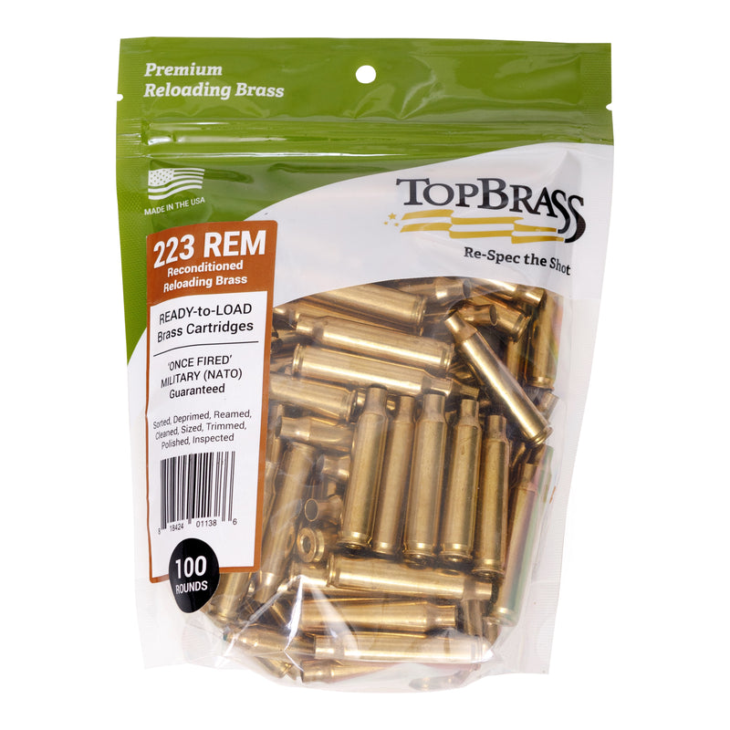 Premium Reconditioned .223 Rem Brass