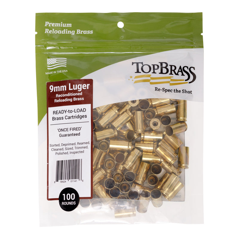 9mm Luger Reconditioned  Brass