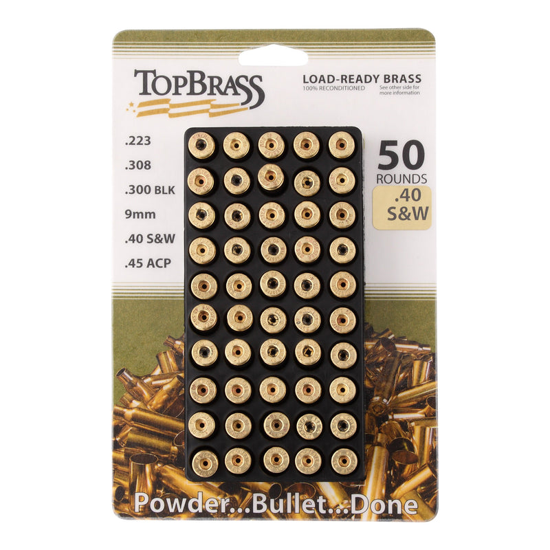 .40 S&W Reconditioned  Brass