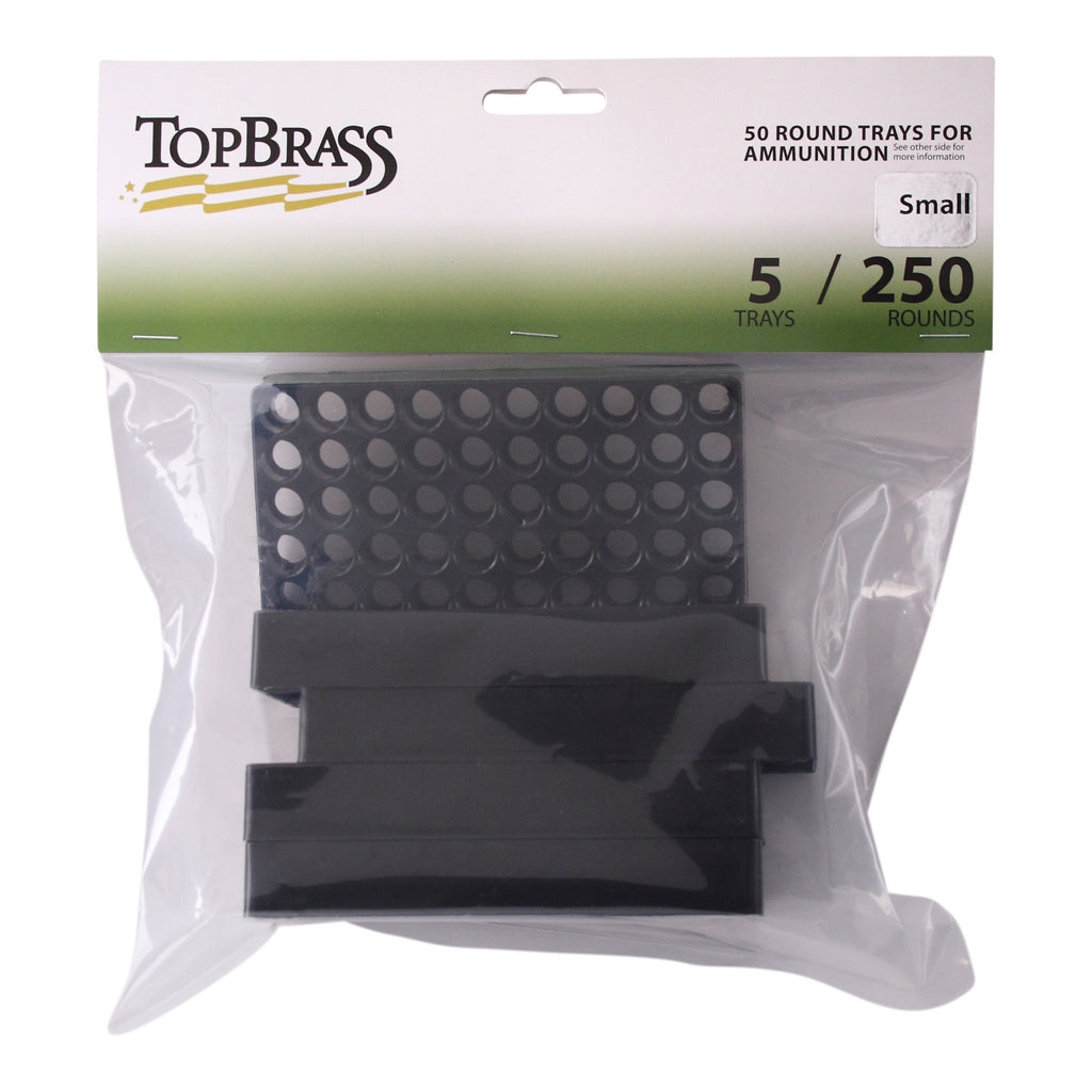 Ammunition Trays - .9MM Luger 50 Round Black Plastic Tray - 5 Count