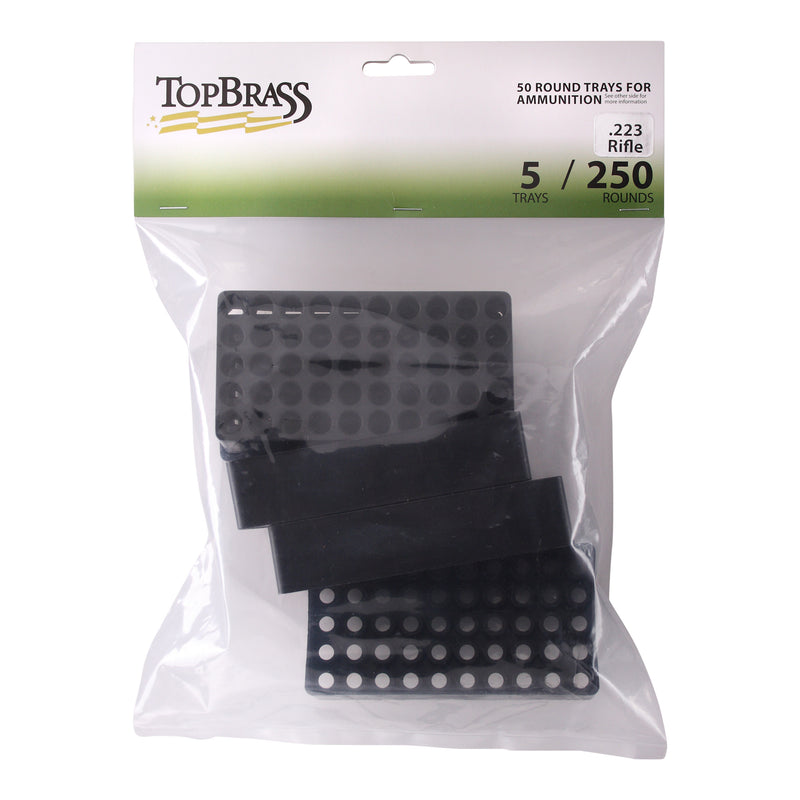 Ammunition Trays - .223 50 Round Black Plastic Tray - 5 Count