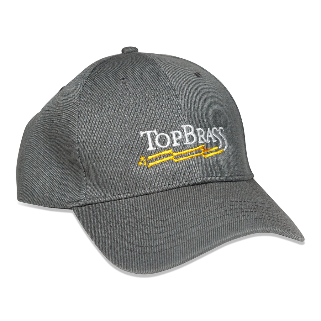 Top Brass Gray Snapback Ballcap Hat