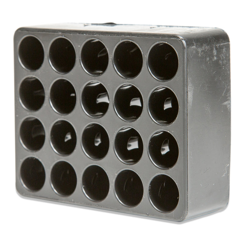 Black Plastic Ammunition Tray for 9mm, 380, .38, or . 357 Magnum - 20 or 50 Capacity