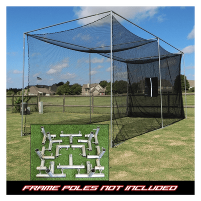 Cimarron 10x10x10 Masters Golf Net with Frame Kit-IndoorGolfOnly