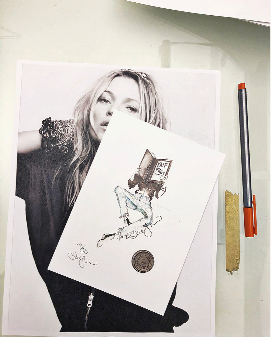 Limited run Kate Moss print