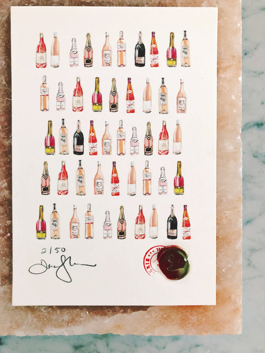 Rosé on the Rocks Print, Limited run