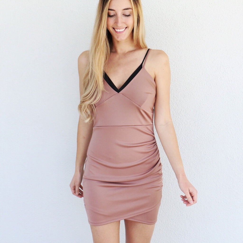Tia Dress in Mocha
