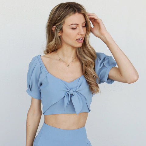 Alina Top in Blue