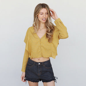 Natasha Top in Yellow