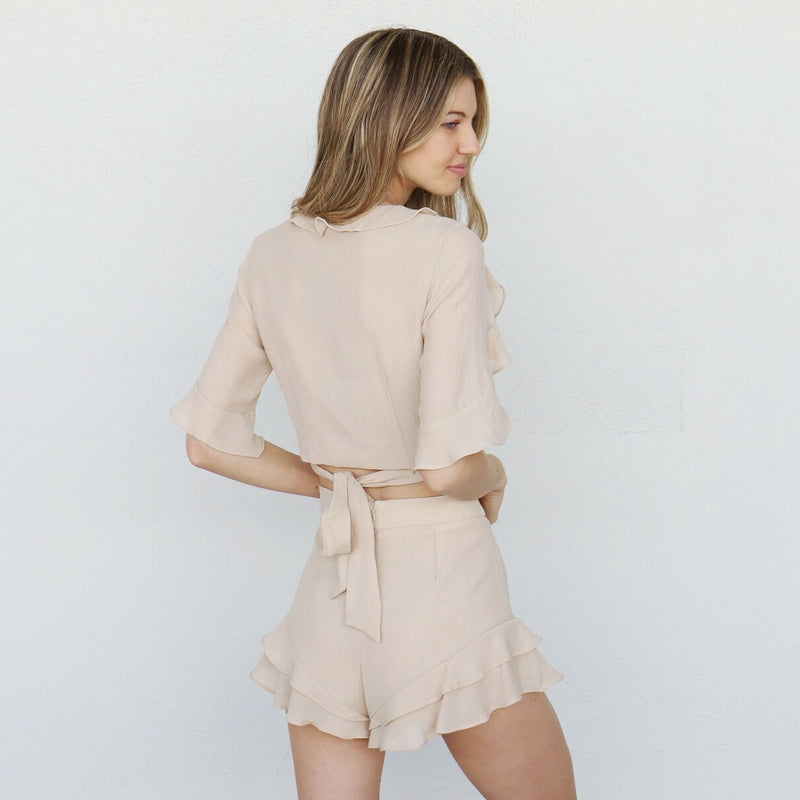 Perla Top in Sand