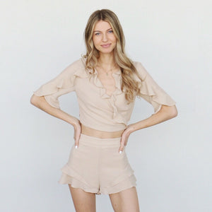 Perla Shorts in Sand