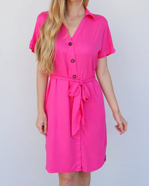 Clara Dress in Fuchsia