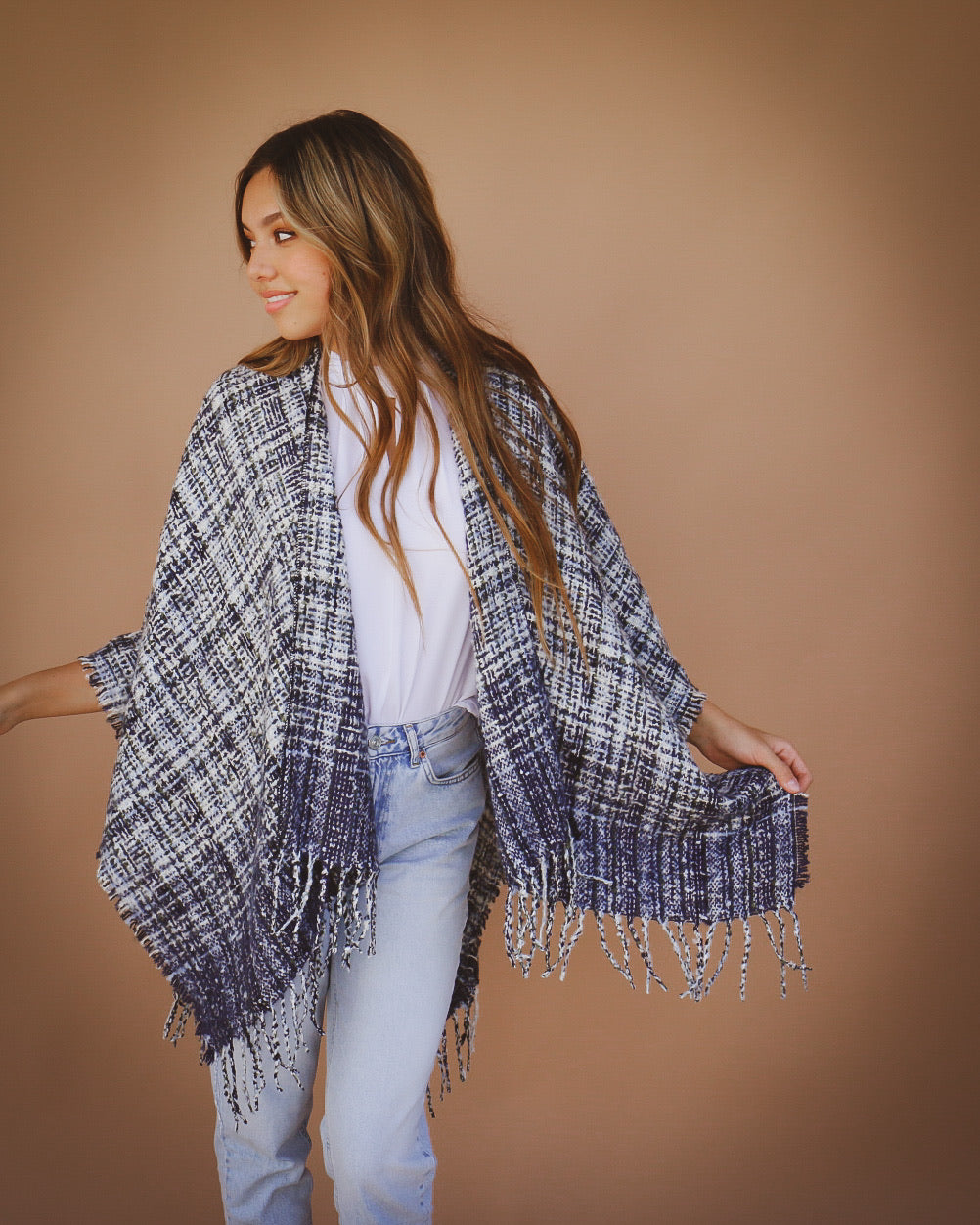 Towne Shawl in Navy