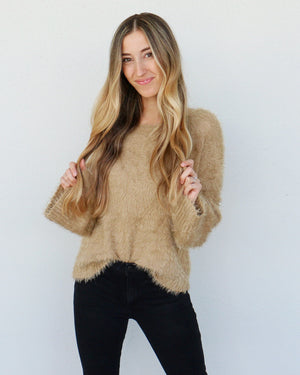 Elise Sweater in Tan