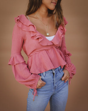 Linden Top in Rose