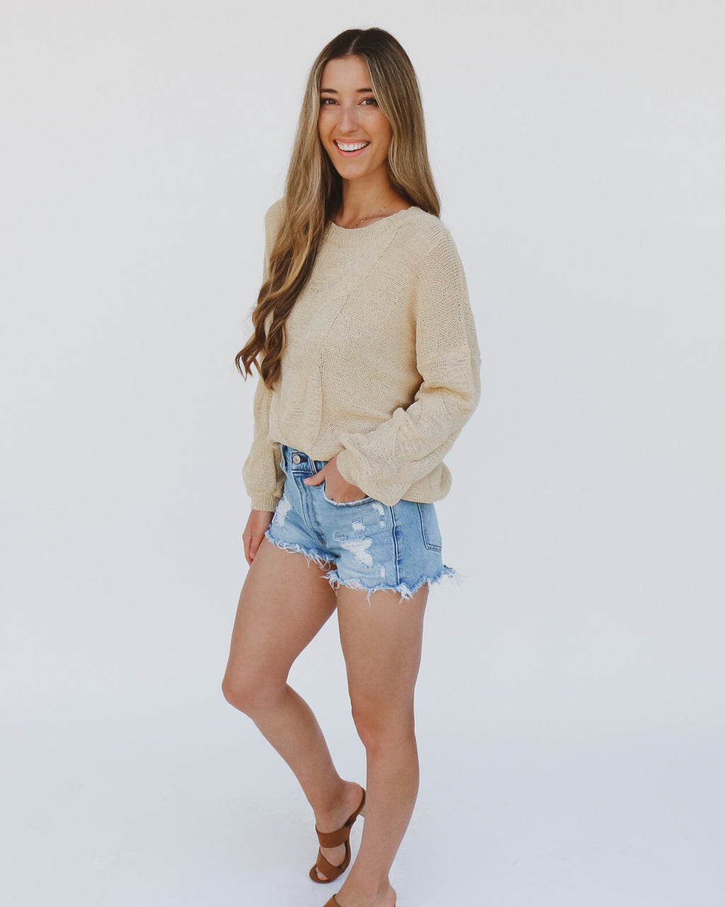 Beach Days Sweater in Yellow