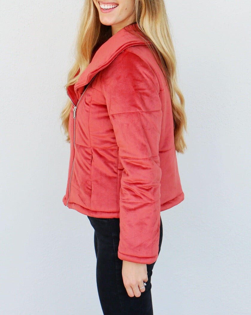 Amber Jacket in Red