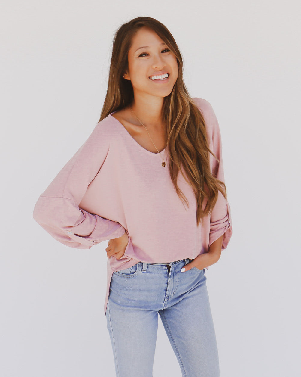 Brogan Top in Blush