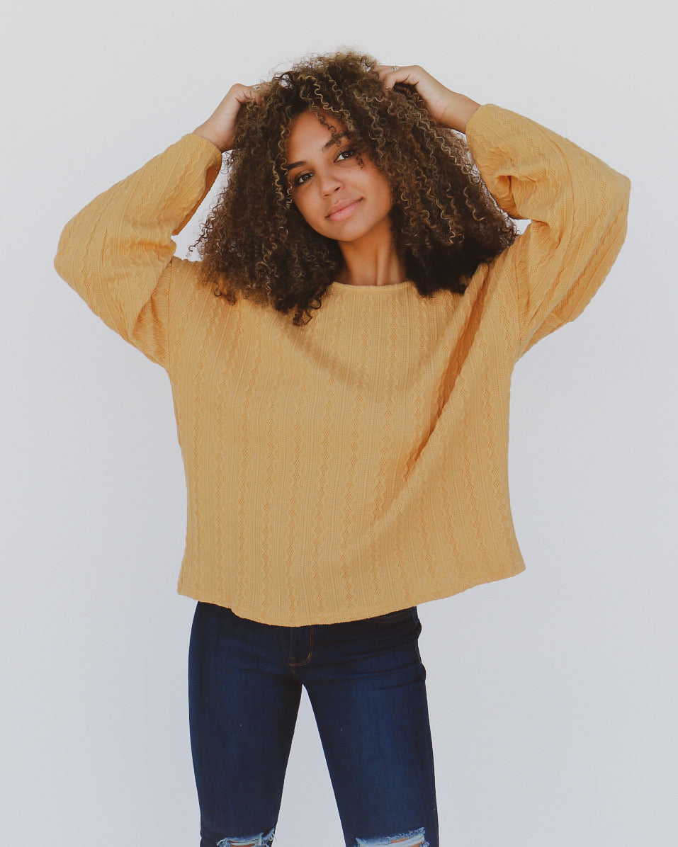 Charlize Top in Mustard