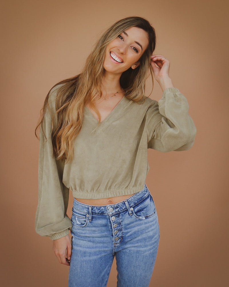 Kristy Top in Olive
