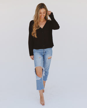 Shoreline Top in Black