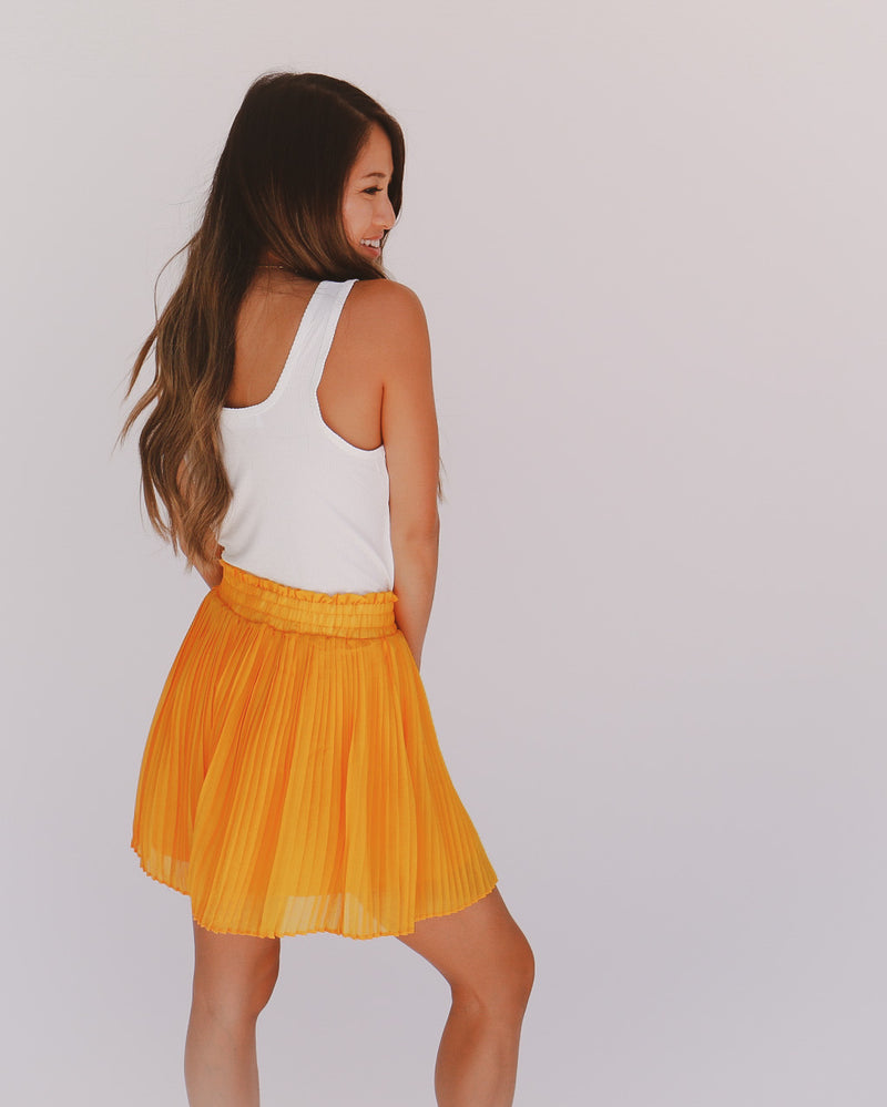 Harlow Shorts in Mustard
