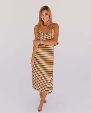 Alaina Dress in Mustard