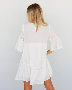 Skye Dress in Ivory