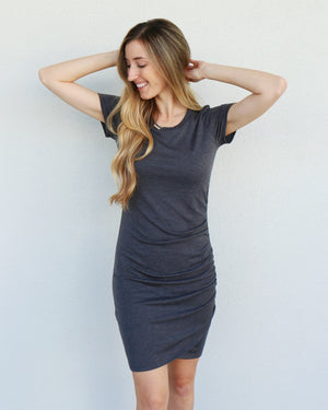Nelly Dress in Charcoal