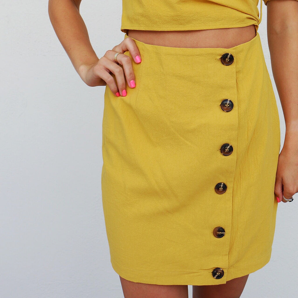 Tawny Dress in Mustard