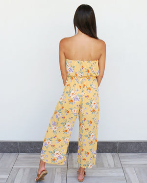 Hana Jumpsuit in Yellow